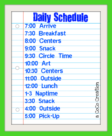 playhouse daily schedule