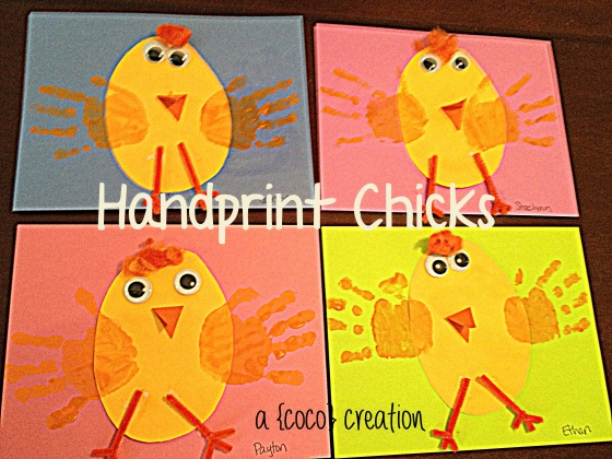 easter handprint chicks blog