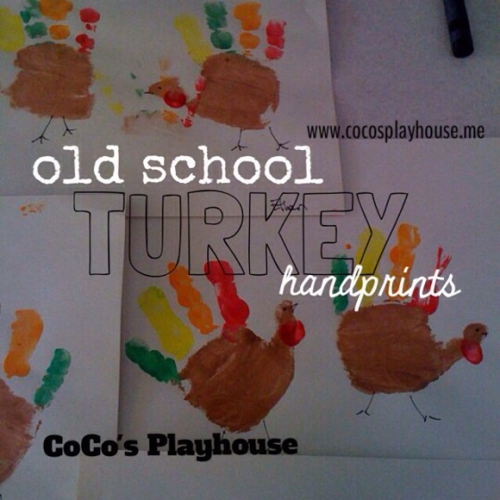 Old School Turkey Handprints {CoCo's Playhouse} www.cocosplayhouse.me