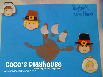 Handprint Mayflowers {CoCo's Playhouse} www.cocosplayhouse.me